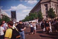 View of some of the crowd at the Millennium Pride Festival