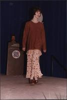 Casual full-length skirt during the Boat Show Fashion Show