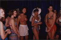 two piece swimsuit models during the Boat Show Fashion Show