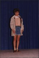 Jean shorts with a jacket during the Boat Show Fashion Show
