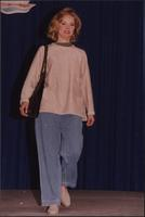 Jeans, sweater and espadrilles for a casual look during the Boat Show Fashion Show