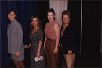 Three Stevens models stand with Melissa Steven during the Boat Show Fashion Show