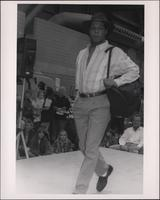 Walking the runway during the Boat Show Fashion Show