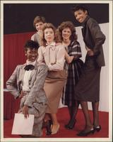 Promotional photograph of five Stevens models at the International Photo Show