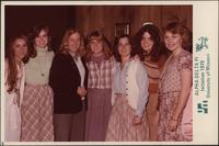 Sheila Stevens and sorority sisters during Alpha Delta Pi Initiation Day 1979