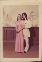 Sheila Stevens and her date in formal clothing