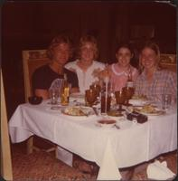 Sheila Stevens with three friends enjoys Mexican food