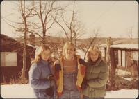 Sheila Stevens and two friends at the Tan-Tar-A Ski Resort