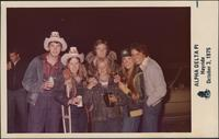 Sheila Stevens and her date with two other couples at the Alpha Delta Pi hayride