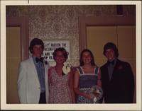 Bridget Fagan and three of her friends during St. Teresa's Academy's prom