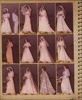 Fifteen photographs of individual Stevens model in wedding clothing