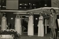 Flo Stevens hosting a bridal fashion show