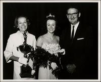 Patricia and Flo Stevens with unidentified man