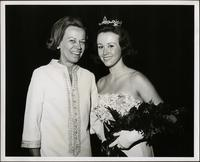 Patricia Stevens with her mother