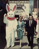 Melissa Stevens, Mayor Berkley, and the Easter Bunny
