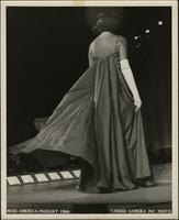 Debbie Bryant on stage at the Miss America pageant