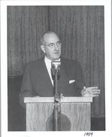 L. Perry Cookingham at lectern