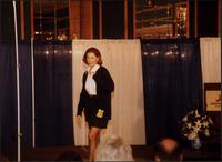 Model during a fashion show at the Women's Expo