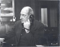 L. Perry Cookingham on phone