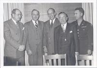 L. Perry Cookingham and four unidentified men