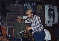 Dwight Foster playing saxophone