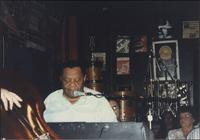 Jay McShann playing at the Levee Bar & Grill