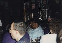 Jay McShann in the audience at the Levee Bar & Grill
