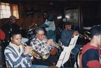 Jazz musicians rehearsing at the Mutual Musicians Foundation