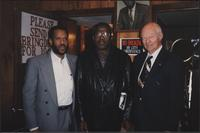 Three musicians at the Mutual Musicians Foundation