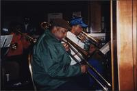 Unidentified musicians at the Mutual Musicians Foundation