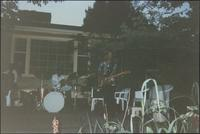 Jazz musicians playing for an outdoor party