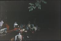 Jazz musicians at an outdoor party