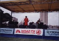 unidentified woman singing at the Liberty Memorial Jazz Festival