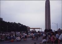 People walking around the Liberty Memorial Jazz Festival
