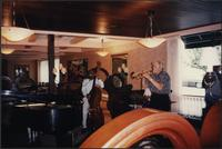 Jazz musicians performing at Fedora's Café & Bar