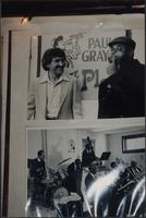 Two photos on the wall of the Mutual Musicians Foundation