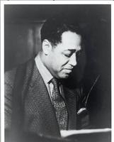 Duke Ellington wearing patterned suit