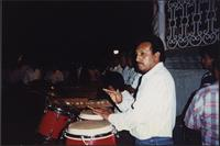 musician playing congas