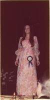Nancy L. Ulshafer during the evening gown portion of the Miss Raytown 1973 pageant