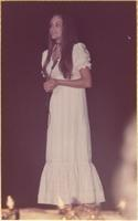 Nancy L. Ulshafer during the talent portion of the Miss Raytown 1973 pageant