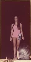 Nancy L. Ulshafer during the swimsuit portion of the Miss Raytown 1973 pageant