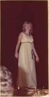 Pamela Ann Shiel during the evening gown portion of the Miss Raytown 1973 pageant