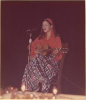 Constance Pickett during the talent portion of the Miss Raytown 1973 pageant