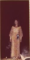 Constance Pickett during the evening gown portion of the Miss Raytown 1973 pageant
