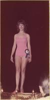 Victoria L. Mueller during the swimsuit portion of the Miss Raytown 1973 pageant