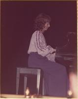 Victoria L. Mueller during the talent portion of the Miss Raytown 1973 pageant