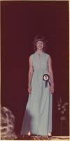 Victoria L. Mueller during the evening gown portion of the Miss Raytown 1973 pageant