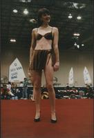 Crushed velveteen animal print bikini during the Boat Show Fashion Show