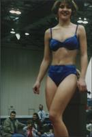 Blue and turquoise bikini during the Boat Show Fashion Show