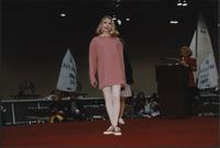 Oversized sweater and leggings during the Boat Show Fashion Show